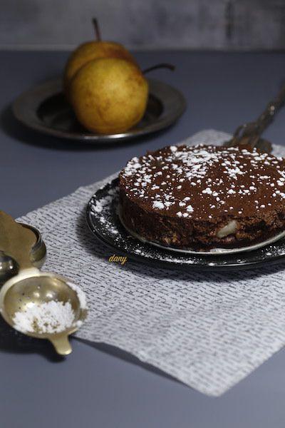 MOUSSE AU CHOCOLAT CROQUANTE AUX POIRES