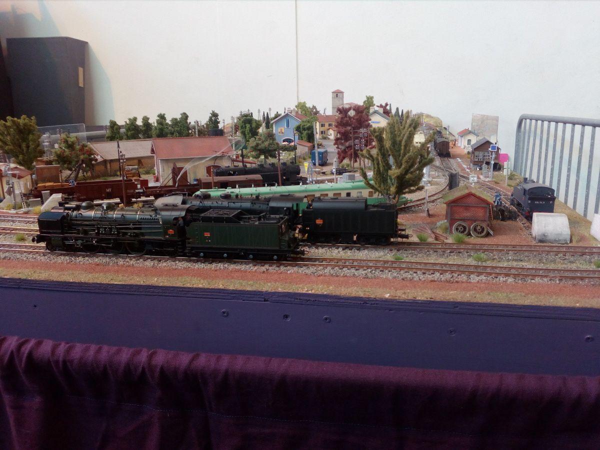 Réseau d'un membre du club lors de l'édition 2017 de Model Trains à Romilly