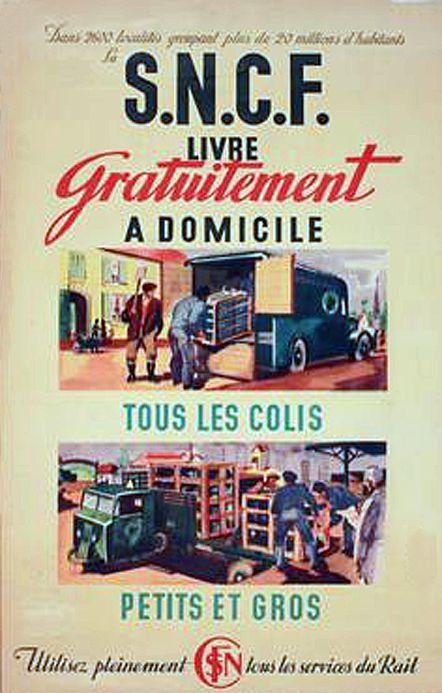 Ancienne affiche de publicité SNCF.