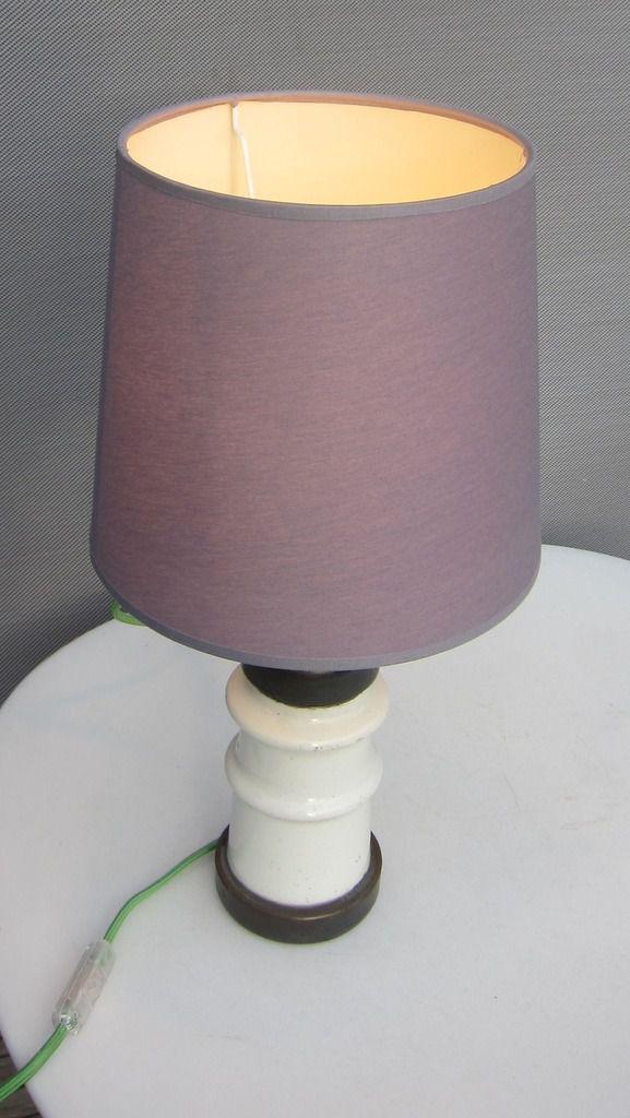 Lampe isolateur céramique - 90 euros