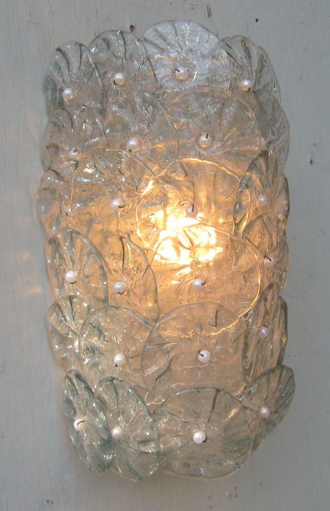 """Applique """"Glass Flower"""" - 150 euros"""
