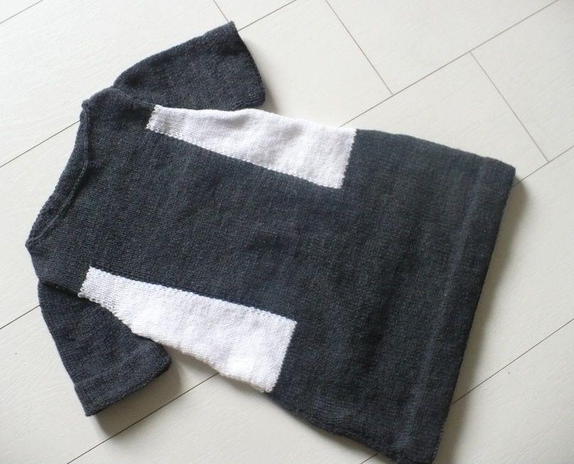 Robe tricot bicolore