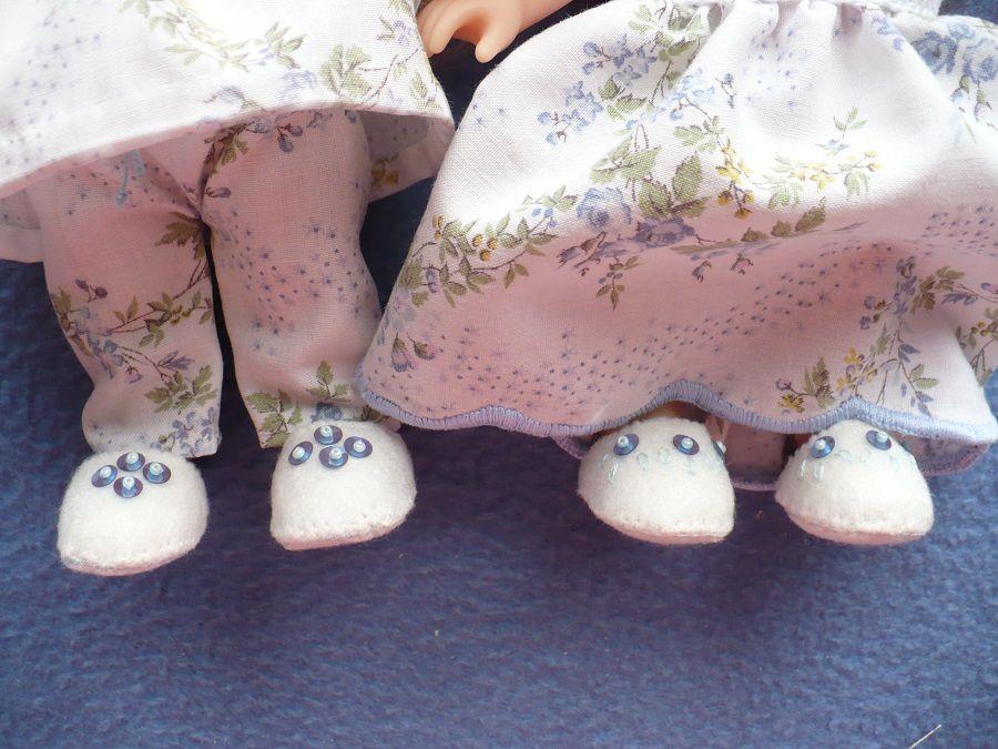 Pantoufles Mini feutrine