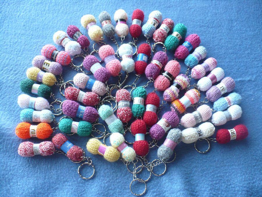 Mini pelotes porte clés