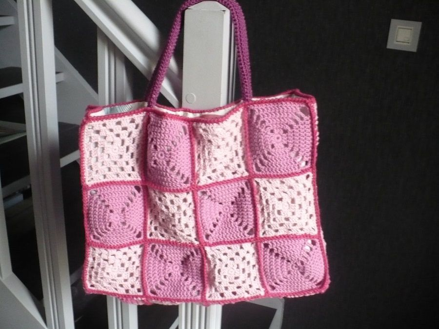 Atelier Tricot : finition sac cabas