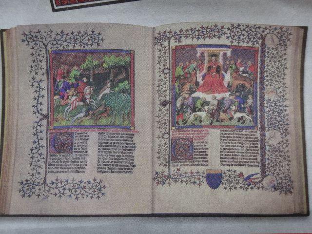 Pub2, Le Livre de Chasse de Gaston Phébus, BNF Paris, M. Maleiro, Le Monde 14-12-2014