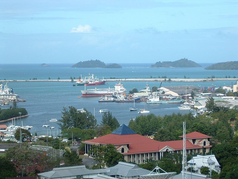 Seychelles, Port Victoria, Clipper, le port, vue originale, wikipedia