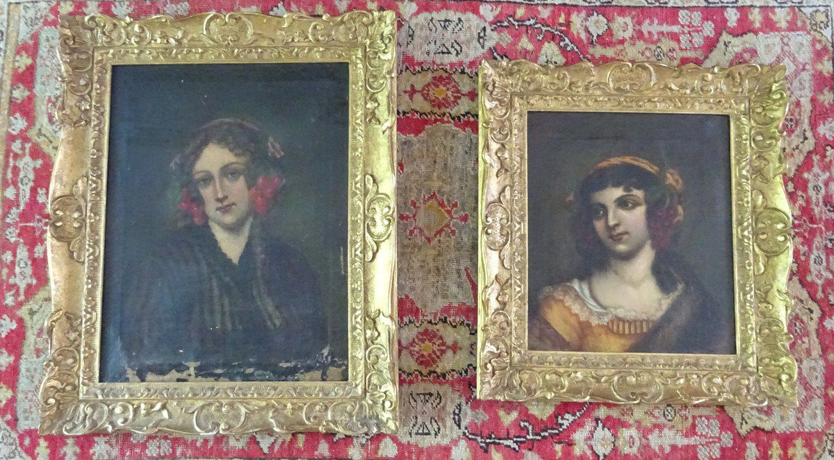 """Portraits de """"femme aux cerises"""", Muller Artist Colorman, CL. Elisabeth Poulain"""