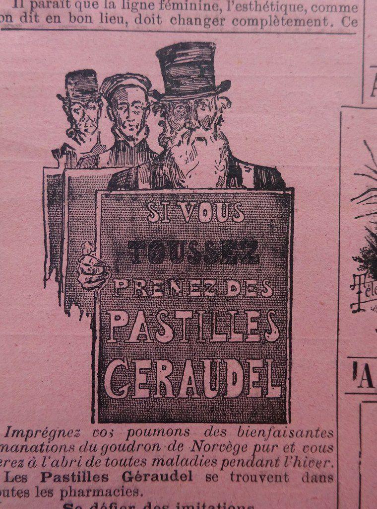 Pastilles Geraudel,  La Vie Illustrée n°23, 1899-03-23,Cl. Elisabeth Poulain