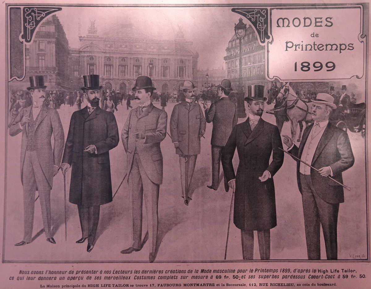Modes de Printemps 1899, La Vie Illustrée n°23, Jeudi 23 mars 1899, Cl. Elisabeth Poulain