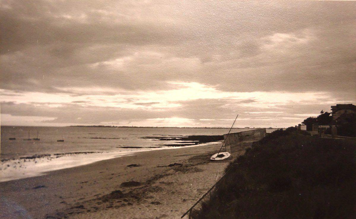 Le Blockhaus de la plage de Bonne Source-Pornichet, au soleil couchant, Cl. Elisabeth Poulain