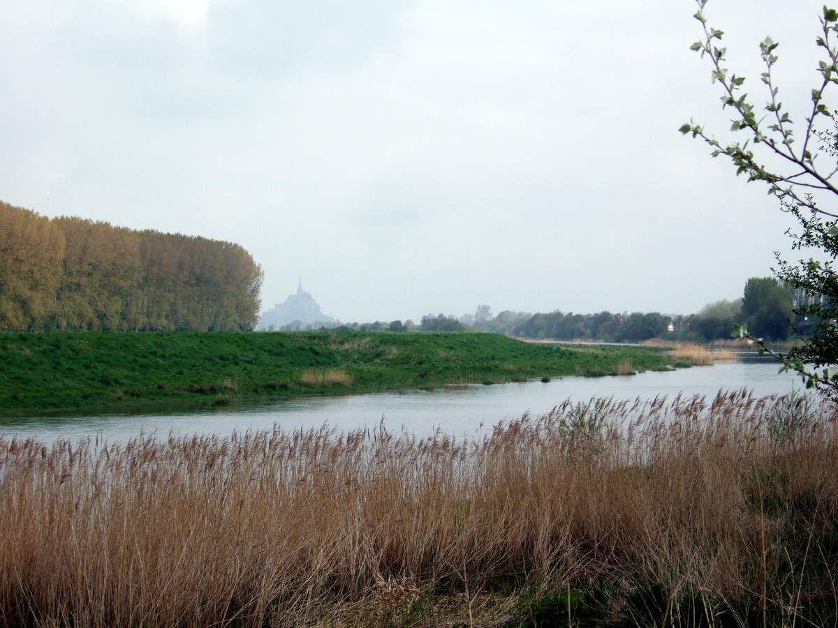Cliché du Couesnon, avec le Mont-St. Michel dans le fond, wikipedia