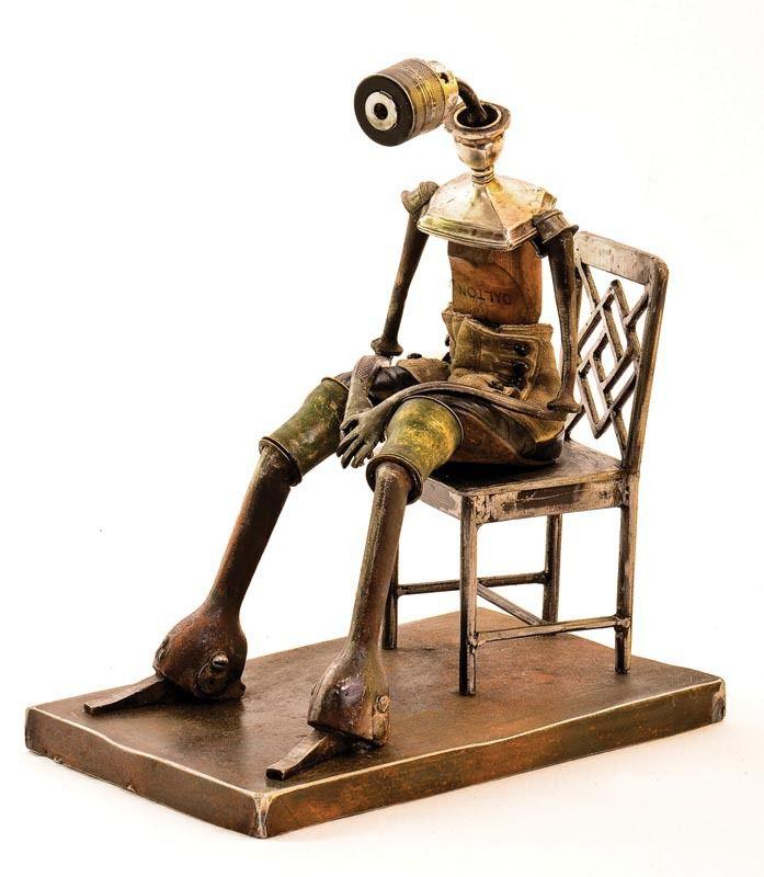 L'univers poétique de Remi Bergeron qui créé des sculptures à partir d'objets et de matériaux de récupération, upcycling, art récup, détournement