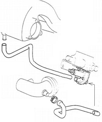 Branchement tiroir d'air aditionnel XU5JA