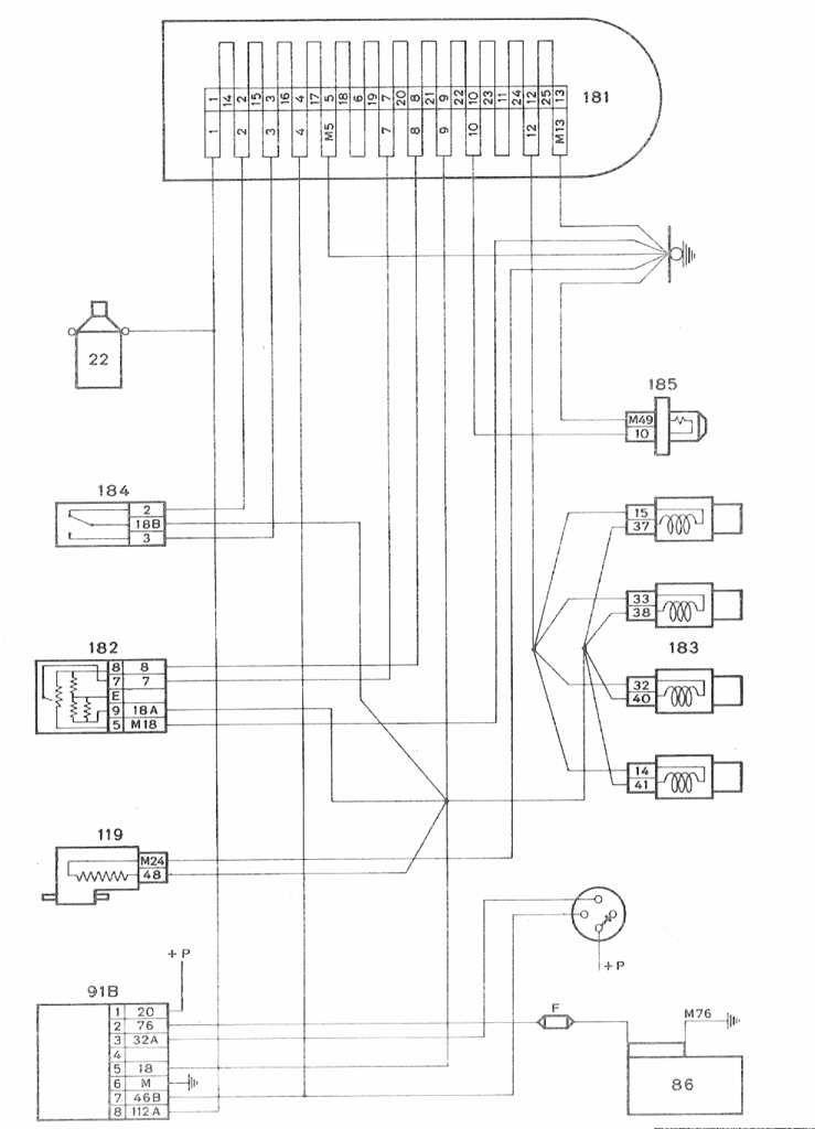 Schéma de principe injection LE2-Jetronic avant 1986