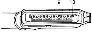 Vérification du TAA sur prise calculateur