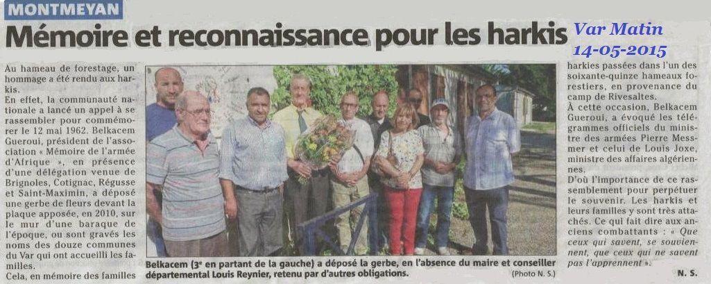 le 12 mai 1962 a été commémoré en Provence Côte-d'Azur (06)