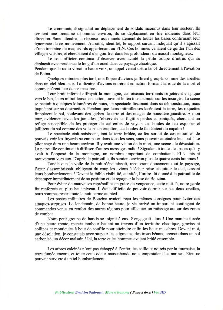 BRAHIM SADOUNI : Mort d'homme (1- 2 )