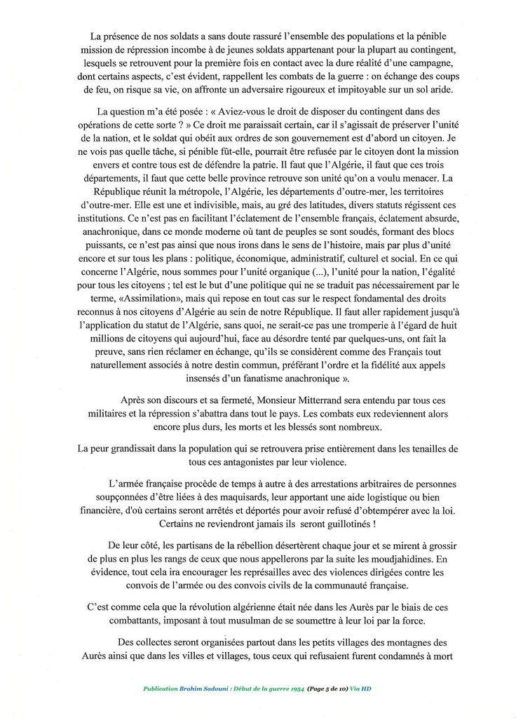 Brahim Sadouni Témoignage d'un passé lugubre (5-6 de 10