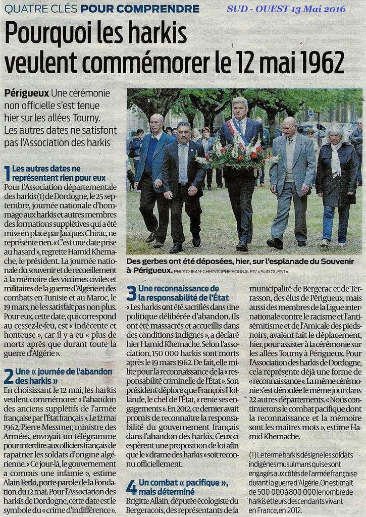 Commémoration Abandon des harkis à périgueux Dordogne (24)