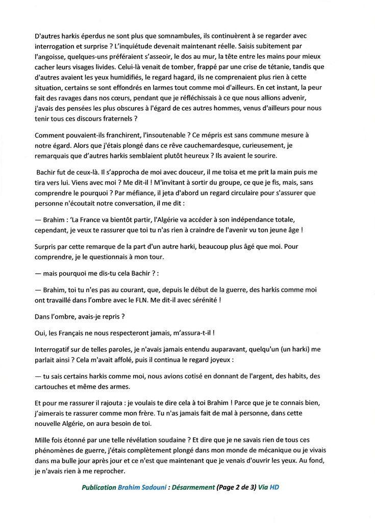 Brahim Sadouni Désarmement :19 MARS, Une verrue: partie 2 de 2
