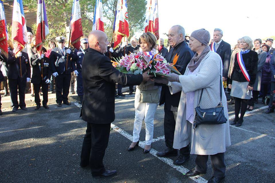 Cérémonie inaugurale d'une stèle par Union des harkis du var du samedi 17 décembre 2016  à Roquebrune-sur-Argens (83)