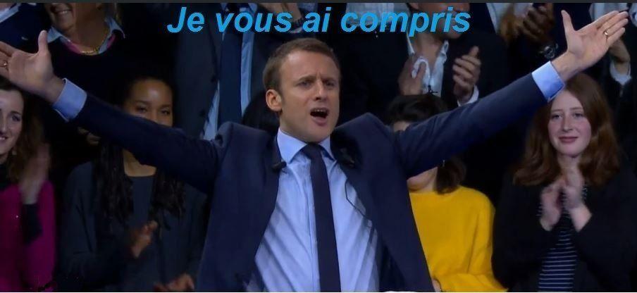 Macron en meeting à Toulon  je vous ai compris.