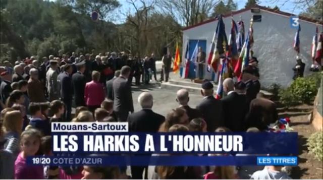 Un hommage national aux harkis sur le site de Timgad à Mouans-Sartoux