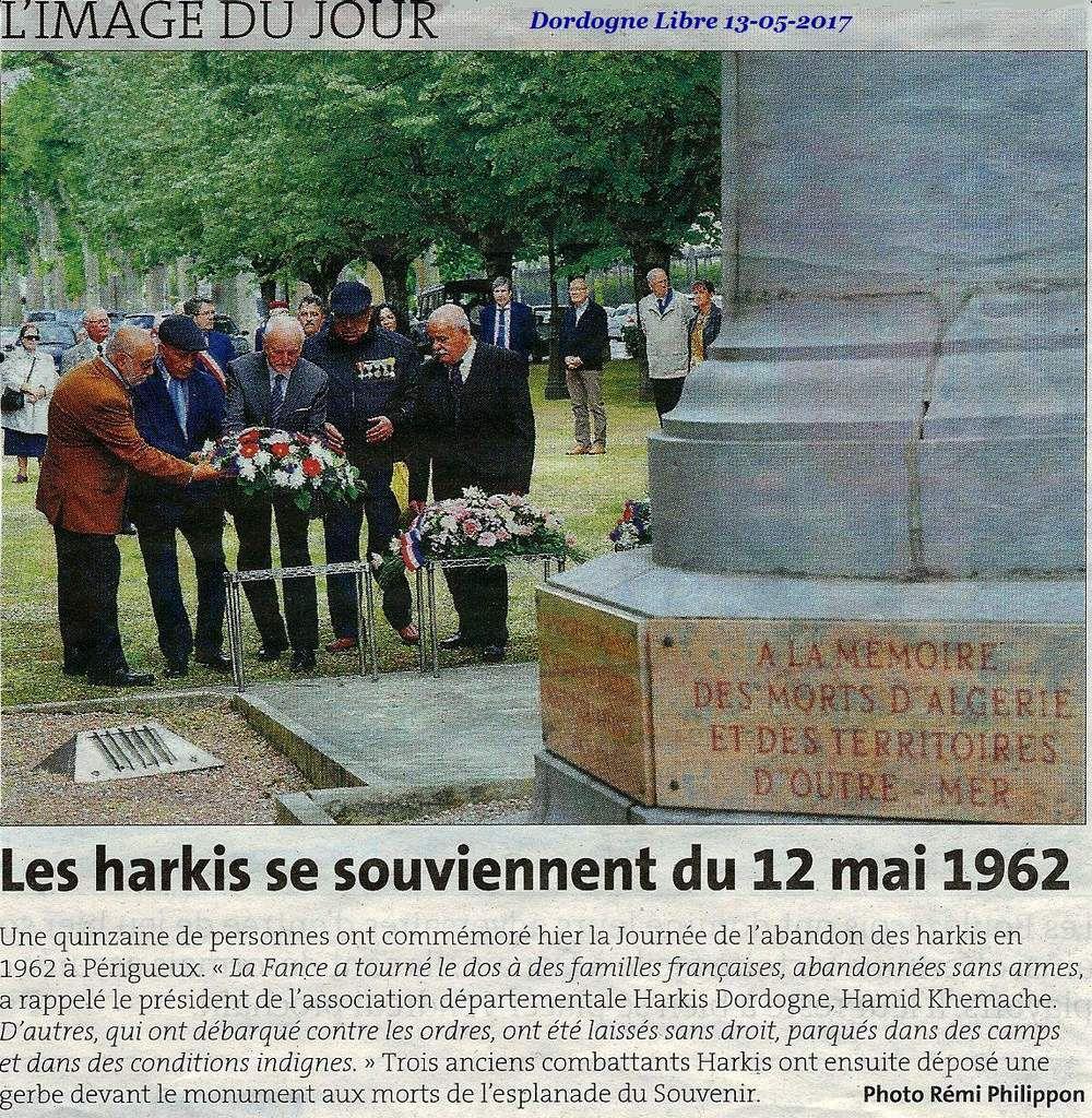 Commémoration Abandon des harkis 12 mai 2017 à périgueux-   ( presse ) Dordogne (24)