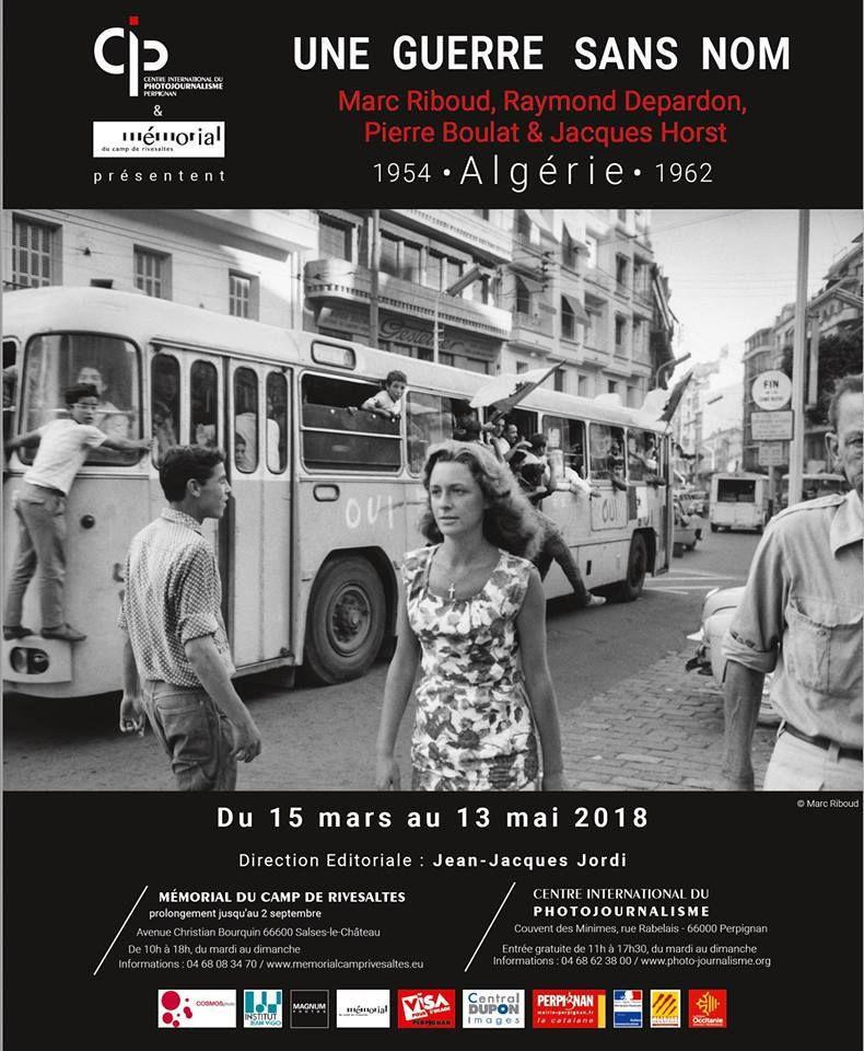Vernissage de l'exposition Une guerre sans nom du 15 mars au 13 mai 2018