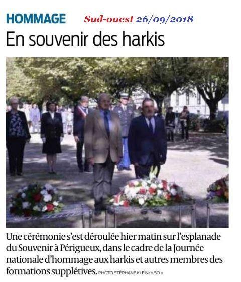 Commémoration des Harkis, ( la cérémonie des pauvres) 25-09-2018 à Périgueux (24)