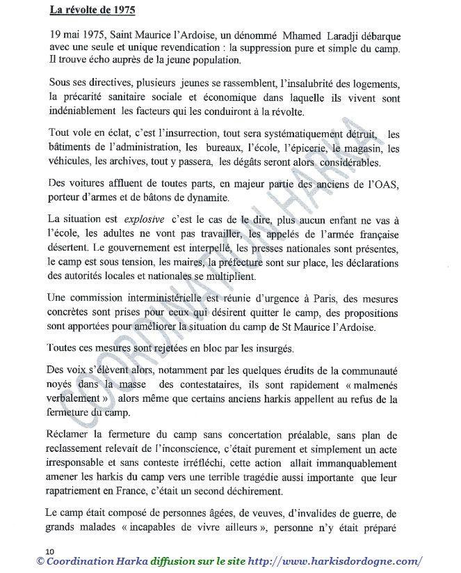 Harkis,(Le rôle et la responsabilité  de la France) Samedi 5 Janvier 2019  à 15h00salle des fêtes de St Laurent des Arbres (30)