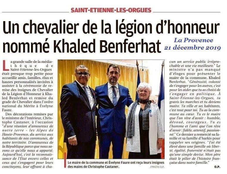 Un chevalier de la légion d'honneur nommé Khaled Benferhat