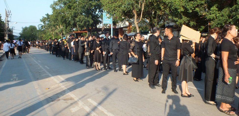 26 octobre 2017: Udonthani. Cérémonie de la crémation du roi Bhumibol Adulyadej