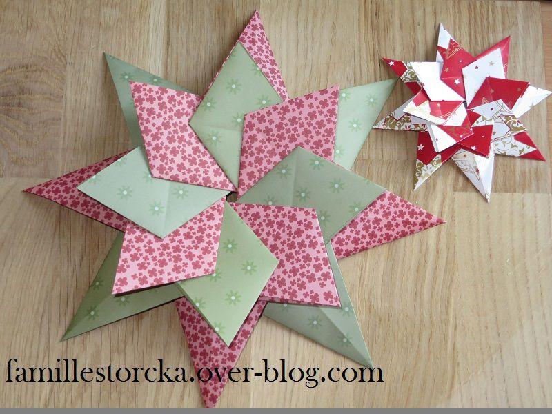 Fleur de poinsettia en origami