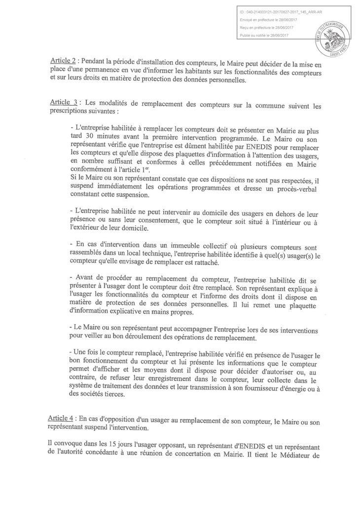 La ville de Tarnos agit contre le linky….. Et vous municipalités du Pays Basque et des Landes que faites-vous ?!!