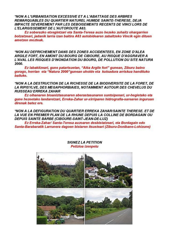 Pétition : Préservons les derniers espaces naturels des hauts de Ciboure-Saint-Jean-de-Luz sur la Côte Basque