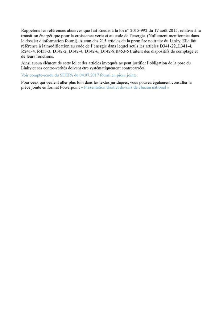 Contre-vérités du courrier d'ENEDIS Tarbes reçu à Ahetze