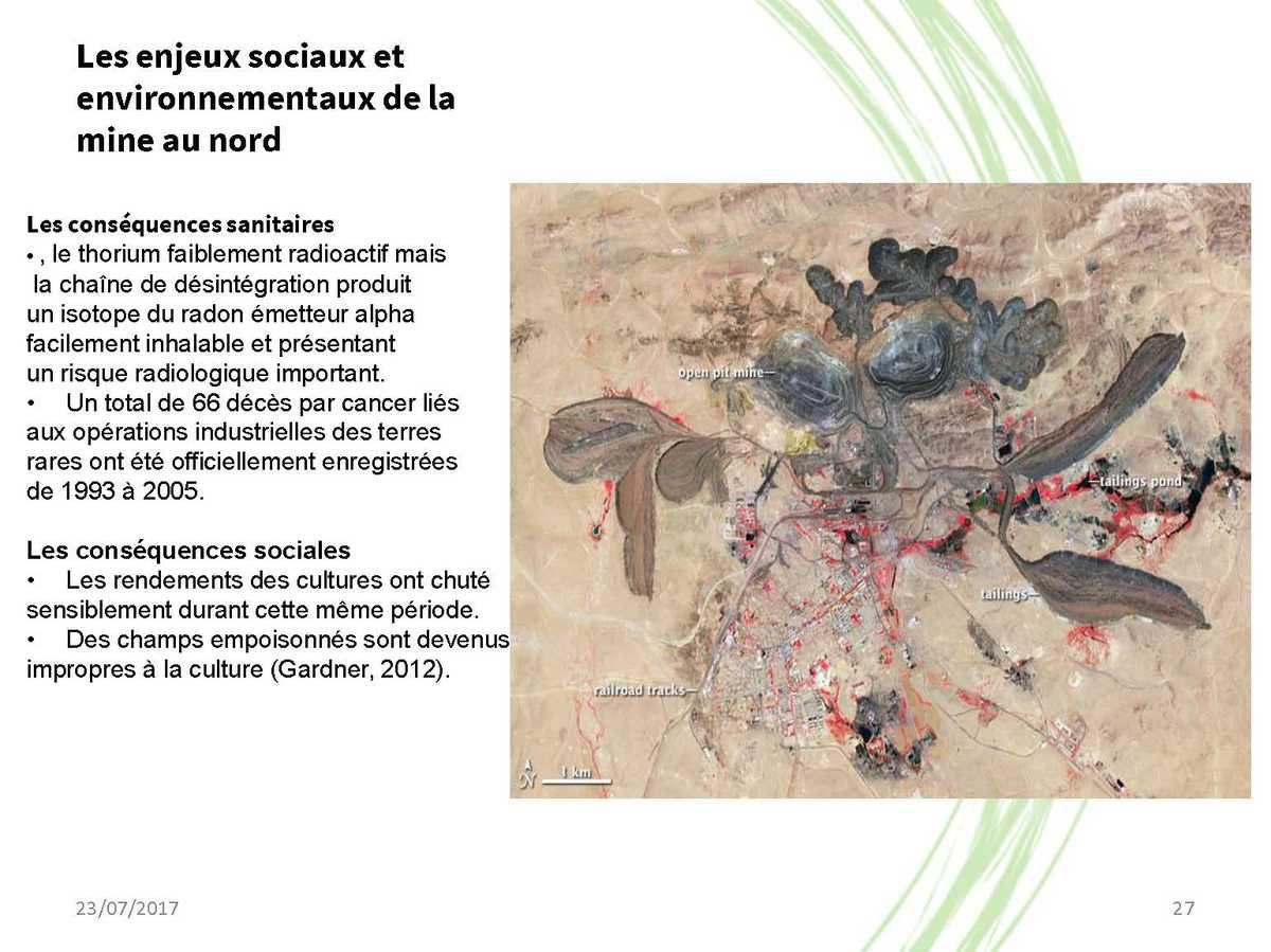Quels sont les impacts associés à l'exploitation minière ?