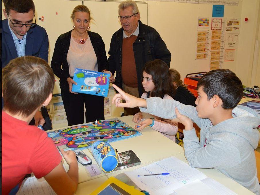 La présentation du jeu aux élèves de CM1-CM2.