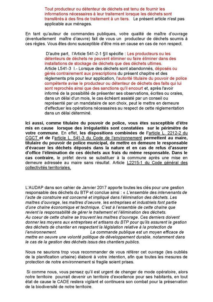 Constatant la recrudescence des décharges sauvages, le CADE a envoyé une lettre aux maires du Pays Basque et du Sud des Landes.