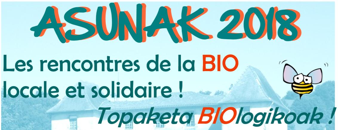 Asunak - la journée de la bio locale et solidaire d'Euskal Herri - dimanche 2 septembre