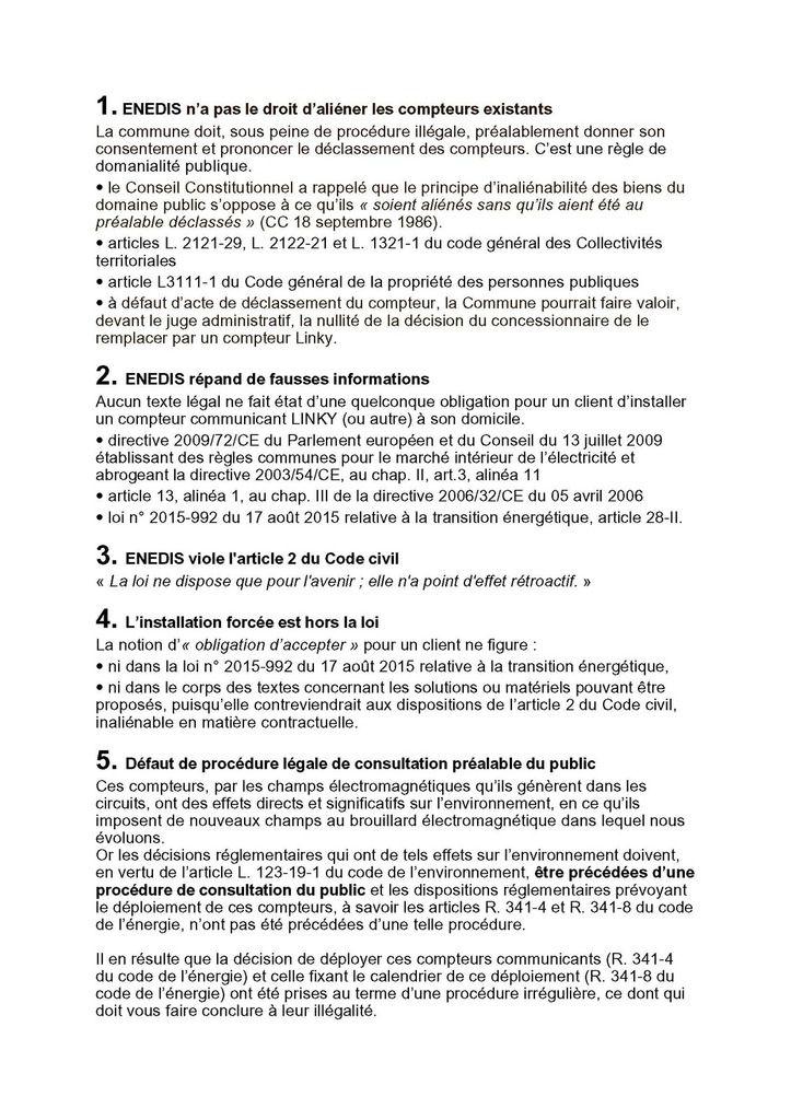 Le déploiement du compteur-capteur Linky : Synthèse des violations de la loi commises par ENEDIS