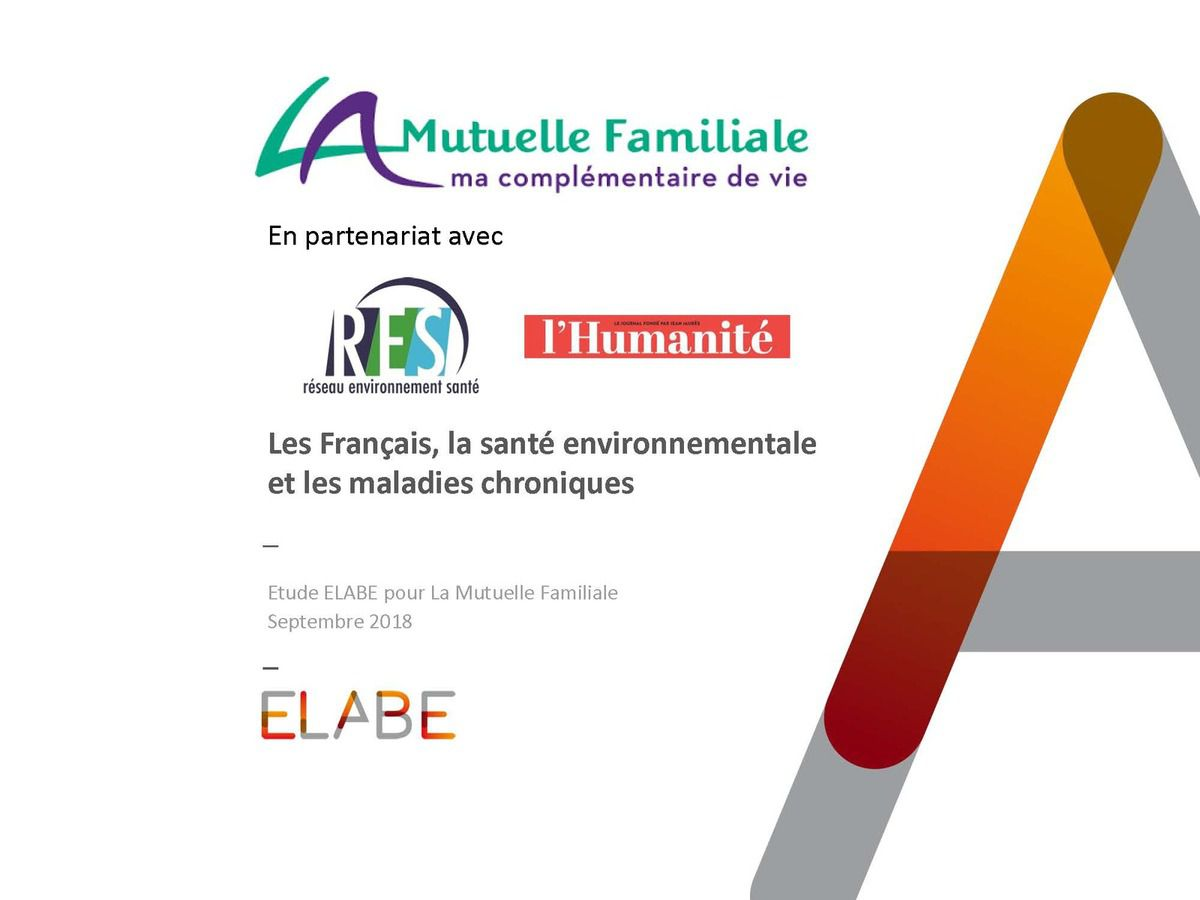 Les Français, la santé environnementale et les maladies chroniques