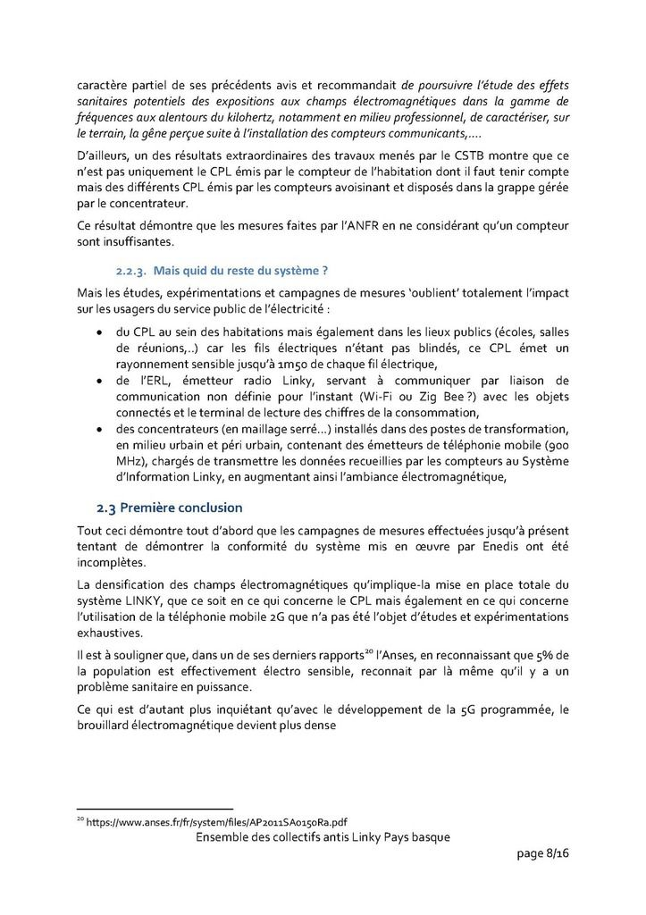 Présentation de notre opposition au linky aux élus/e de la Commission Transition écologique et énergétique de la Communauté d'Agglomération PB