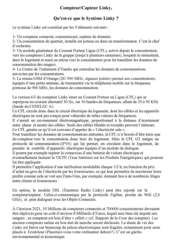 Le Collectif Nantes1anti-Linky- et ACE Hendaye demandent un droit de réponse à « Tout compte fait » à propos de son émission du 2/03/19