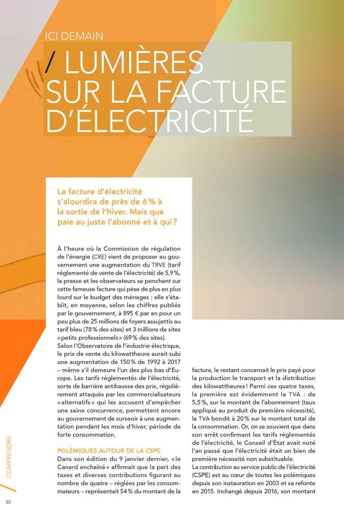 Pour tout connaitre sur les secrets de votre facture d'électricité et ses possibles évolutions