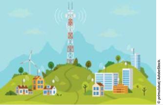 Le déploiement de la 5G signifie des millions d'antennes terrestres à proximité immédiate de nos maisons, bureaux, écoles et hôpitaux. © primulakat/AdobeStock.