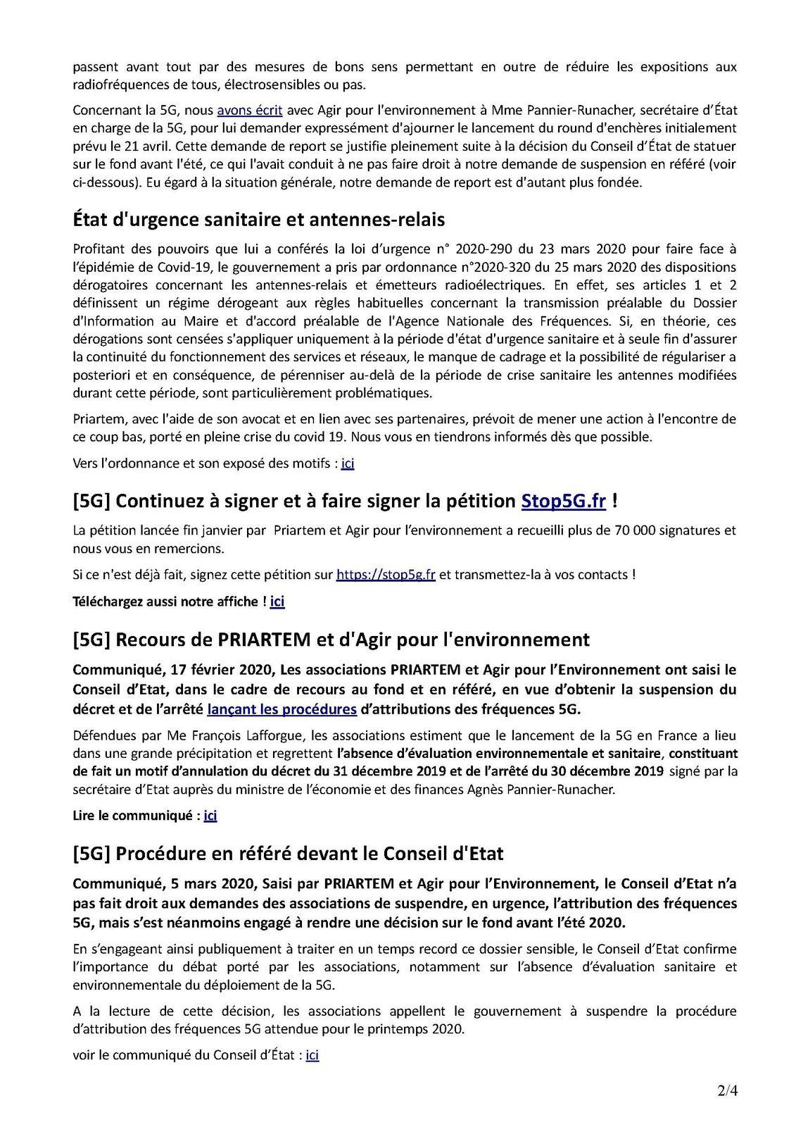 Newsletter PRIARTEM n° 31 – Mars 2020