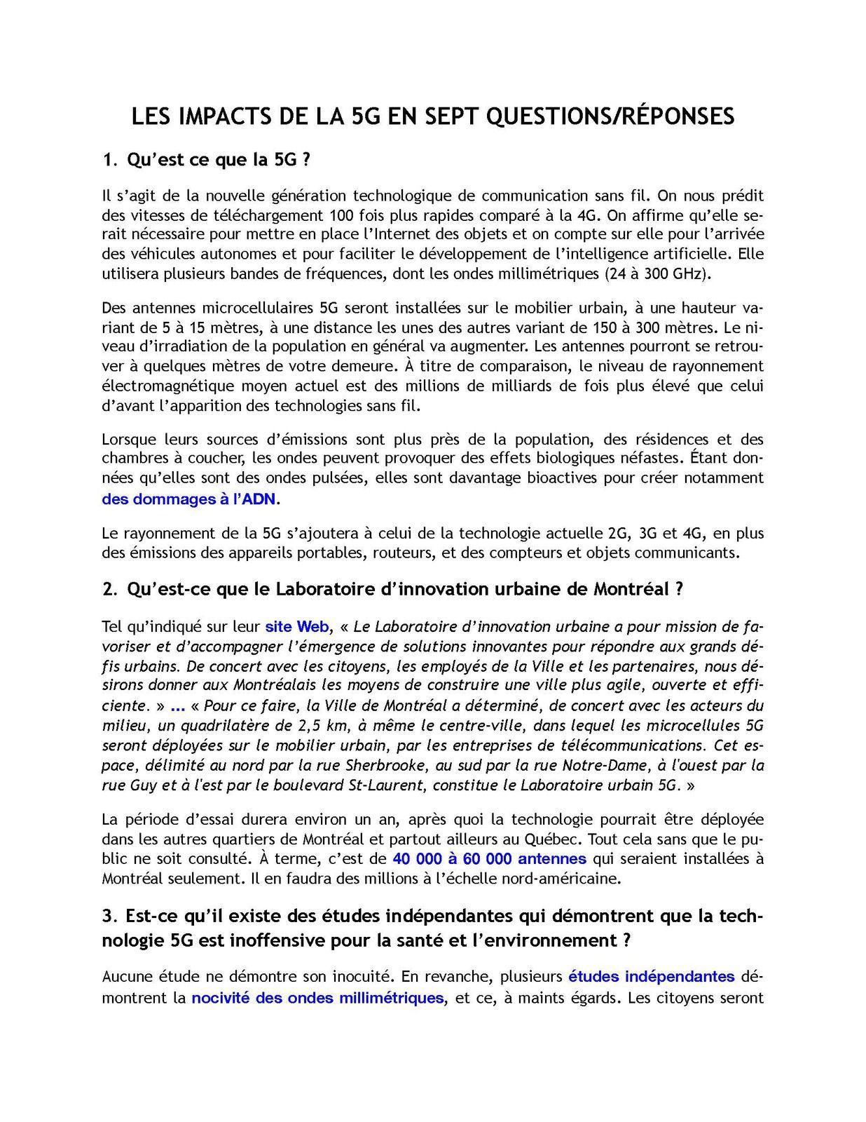 La coordination mondiale contre la 5G appelle à unir nos forces le 6 juin.